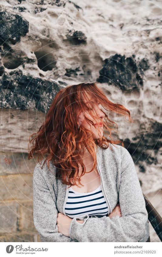 Sächsische Schweiz Lifestyle Gesundheit Leben Wohlgefühl Zufriedenheit Ferien & Urlaub & Reisen Ausflug Ferne Freiheit Sommer feminin Junge Frau Jugendliche 1
