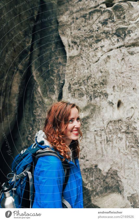 Sächsische Schweiz Ferien & Urlaub & Reisen Ausflug Abenteuer Ferne Freiheit Sommer feminin Junge Frau Jugendliche 1 Mensch 18-30 Jahre Erwachsene 30-45 Jahre