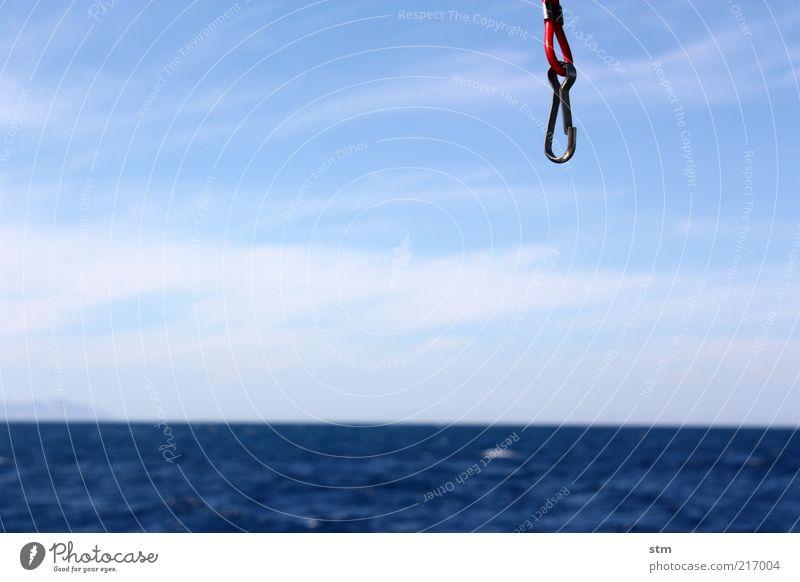 beyond the sea [10] Wasser Himmel Sonne Meer blau Sommer Ferien & Urlaub & Reisen Wolken Ferne Freiheit Luft Metall Hintergrundbild Horizont Ausflug Abenteuer