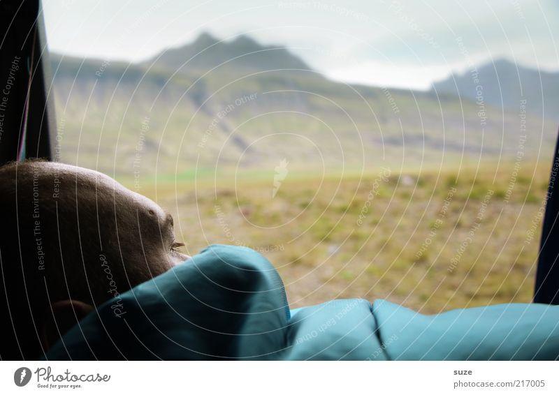 Morgens halb 10 Mensch Natur Mann Ferien & Urlaub & Reisen Landschaft Erwachsene Umwelt Wiese Berge u. Gebirge Freiheit Kopf Wetter maskulin Tourismus Ausflug Abenteuer