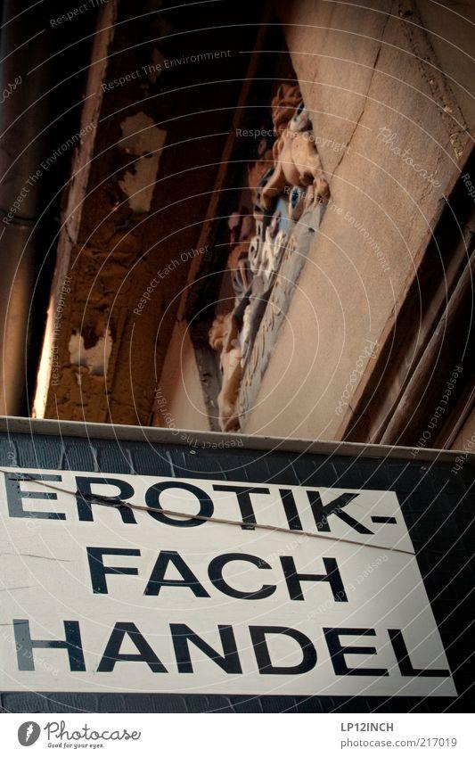 Sexshop Erotik Wand Gefühle Mauer Gebäude Sex Schilder & Markierungen außergewöhnlich Schriftzeichen Buchstaben Neugier Werbung Ladengeschäft Lust Interesse Verbote