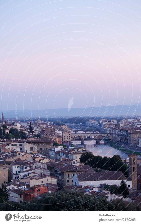 #A# Brücken von Florenz Kunst ästhetisch Stadt Romantik Italien Farbfoto Gedeckte Farben Außenaufnahme Menschenleer Textfreiraum links Textfreiraum rechts
