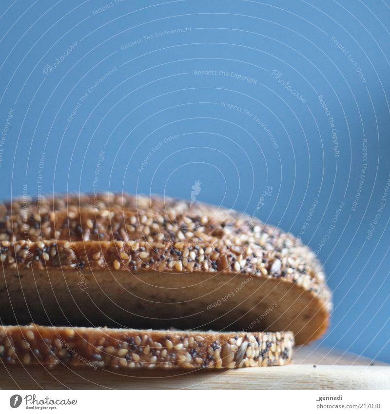 Mein täglich Foto gib uns heute blau Ernährung Farbe braun Gesundheit Lebensmittel mehrere authentisch einfach liegen natürlich Getreide Teile u. Stücke lecker Duft Brot