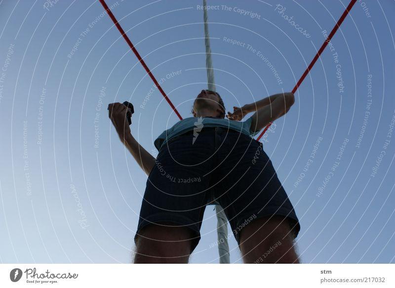 beyond the sea [11] Mensch Mann Jugendliche blau Ferien & Urlaub & Reisen Sommer Erwachsene Freiheit sprechen Beine Freizeit & Hobby Arme Ausflug maskulin Lifestyle Coolness