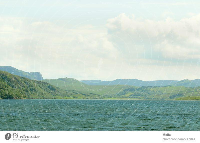 Kein Ende in Sicht Ferien & Urlaub & Reisen Ausflug Ferne Meer Berge u. Gebirge Umwelt Natur Landschaft Urelemente Erde Wasser Hügel Küste Bucht frei