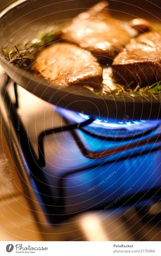 #A# FLEISCH! Lebensmittel Fleisch Ernährung Abendessen ästhetisch Braten Steak Pfanne Küche Elektrisches Küchengerät Farbfoto mehrfarbig Innenaufnahme