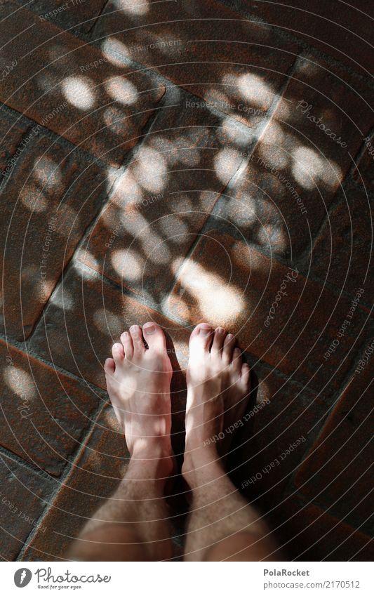 #A# Lichterspiel I Kunst ästhetisch Fuß Tierfuß Füße hoch Barfuß Lichtspiel Lichtpunkt Erholung Heilung Punkt viele mystisch Boden Farbfoto mehrfarbig