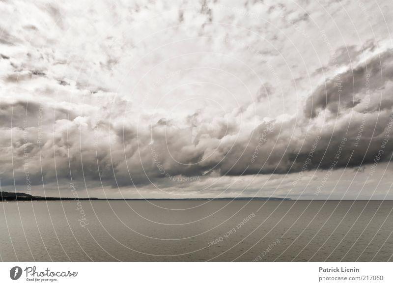 I want the world to stop Umwelt Natur Landschaft Urelemente Luft Wasser Himmel Wolken Gewitterwolken Klima Klimawandel Wetter Wind Sturm Küste Strand Bucht