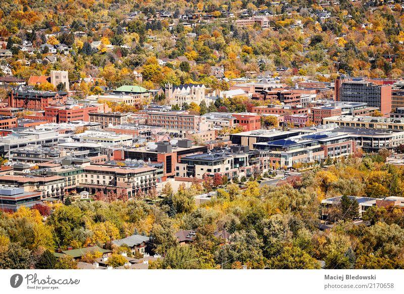 Boulder City im Herbst Natur Stadt schön grün Baum Landschaft Haus Wald gelb Gebäude Park USA Schönes Wetter Klima Stadtzentrum