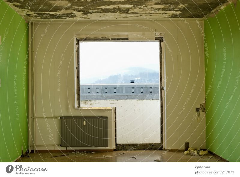 Individuell I grün ruhig Ferne Leben kalt Wand Stil Fenster träumen Mauer Tür Zeit Lifestyle ästhetisch Wandel & Veränderung Häusliches Leben