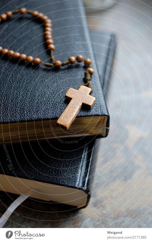 Kreuz Meditation Subkultur alt braun ruhig Wahrheit Weisheit klug Rosenkranz Gebet Christentum Buch Glaube Meinung Religion & Glaube Gottesdienst Liturgie