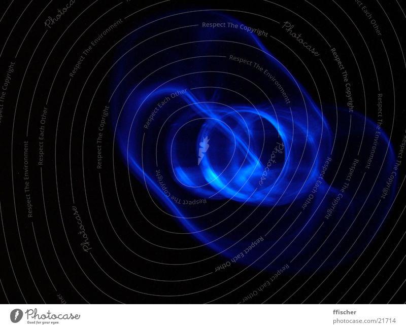 BlueWave blau schwarz Lampe dunkel Wellen Kreis Technik & Technologie Elektrisches Gerät Modding