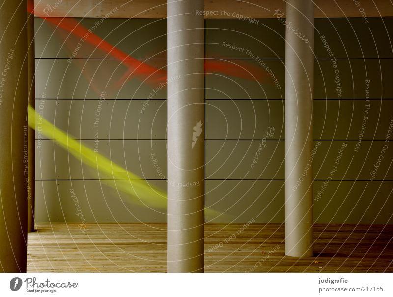 Tanz grün rot Bewegung Architektur Stimmung Wärme elegant Geschwindigkeit außergewöhnlich Bauwerk Säule Eile flattern