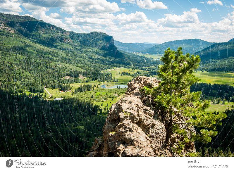 Talblick Himmel Natur Ferien & Urlaub & Reisen Pflanze Wasser Landschaft Wolken Erde Hügel Amerika