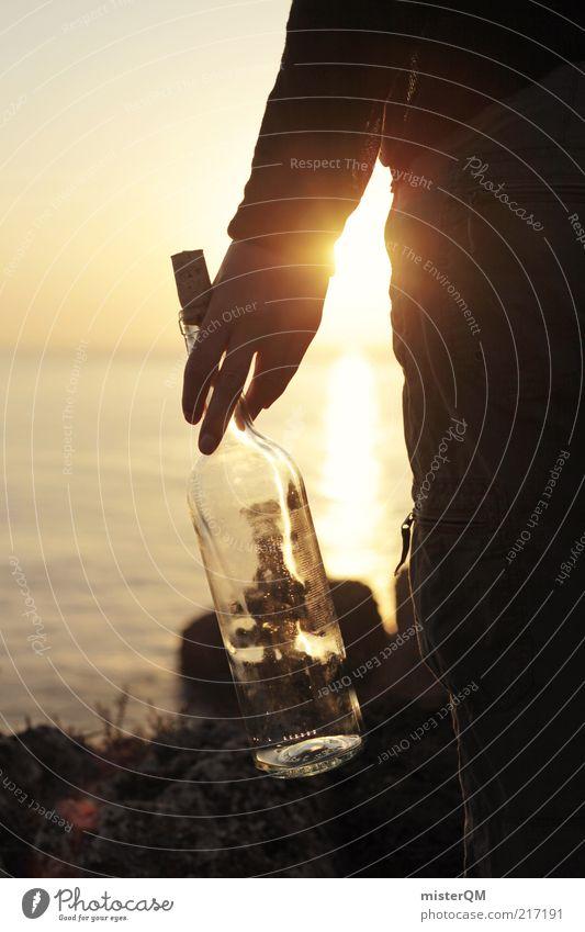 Hope. Kunst Abenteuer ästhetisch Flaschenpost Hoffnung Hoffnungsfunke Hoffnungsstrahl Meer Romantik Idylle fantastisch Märchen schön Momentaufnahme einzigartig