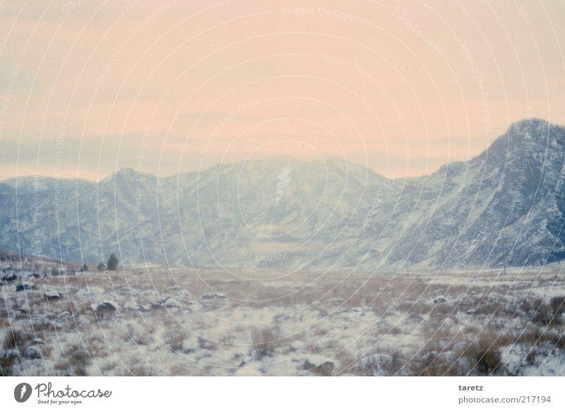 Schleierberge Winter Eis Frost Schnee Berge u. Gebirge Altai Gebirge kalt Sibirien Tundra Bergkette Nebel geheimnisvoll Ferne fremd mystisch Steppe massiv