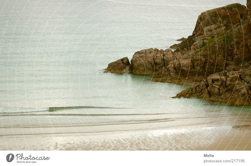 Das Ende der Welt Natur Wasser Meer Strand Ferien & Urlaub & Reisen ruhig Einsamkeit Stein Landschaft Küste Wellen Umwelt Felsen natürlich Urelemente