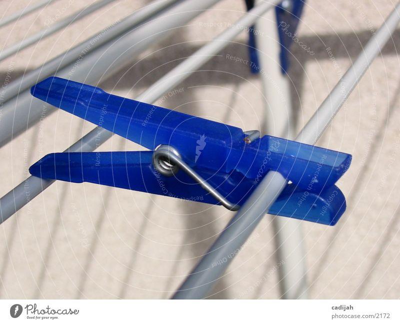 Wäscheklammer.blau. Wäscheklammern festhalten Klammer Dinge