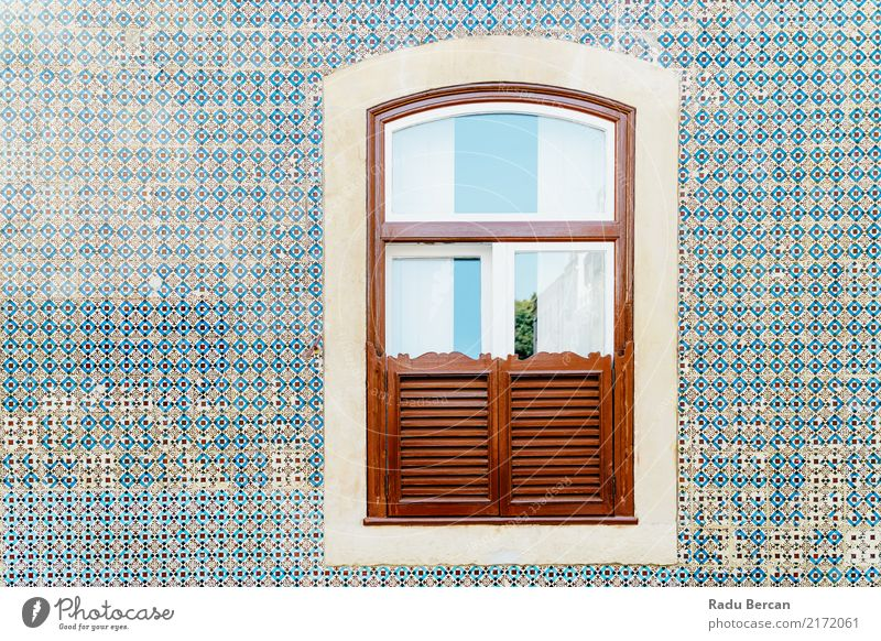 Ferien & Urlaub & Reisen alt blau Stadt Farbe schön Haus Fenster Architektur Wand Stil Holz Gebäude Mauer Stein braun