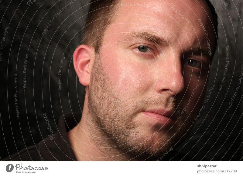 Meiner Einer Stil schön maskulin Mann Erwachsene Haut Kopf Haare & Frisuren Gesicht Auge Ohr Nase Mund Lippen Bart 1 Mensch brünett kurzhaarig Dreitagebart