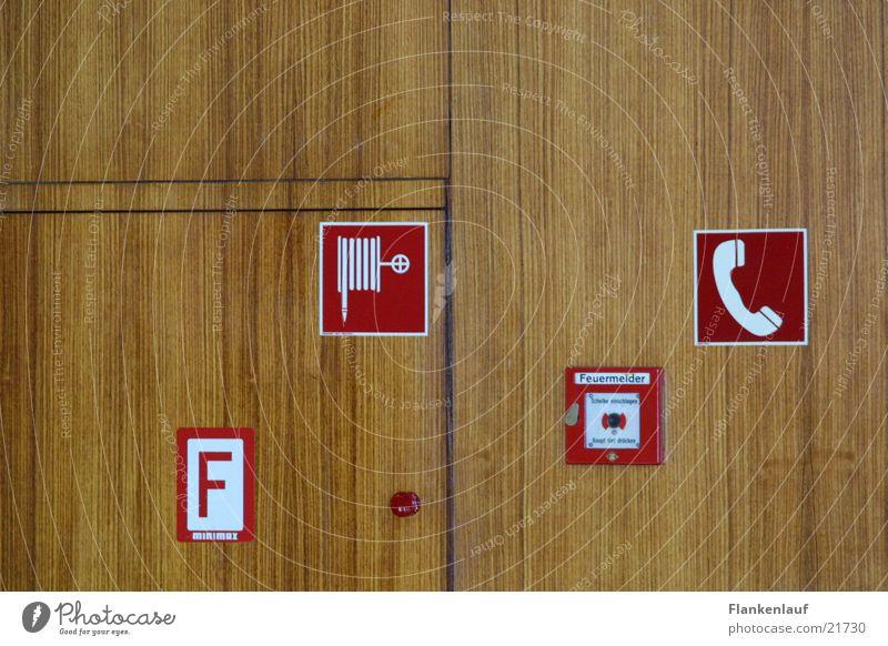 alarm Holz Schilder & Markierungen Wand Elektrisches Gerät Technik & Technologie Brand