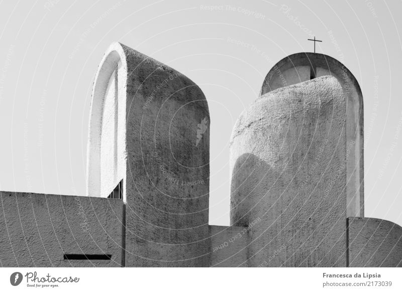 Notre Dame du Haut II Kunstwerk Skulptur Architektur Ronchamp Frankreich Menschenleer Kirche Mauer Wand Dach Sehenswürdigkeit stehen ästhetisch außergewöhnlich