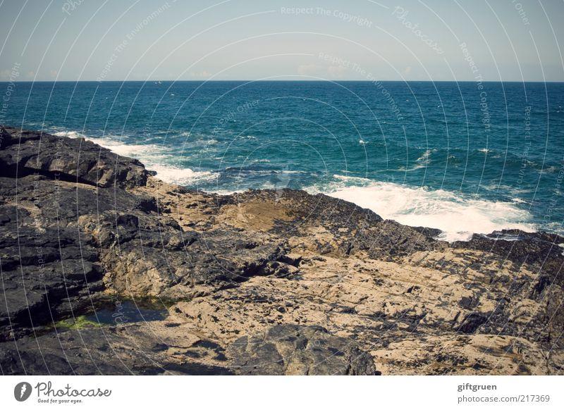 cornish cliffs Natur Wasser Himmel Meer blau Stein Landschaft Küste Wellen Wetter Umwelt Horizont Felsen Insel Klima natürlich