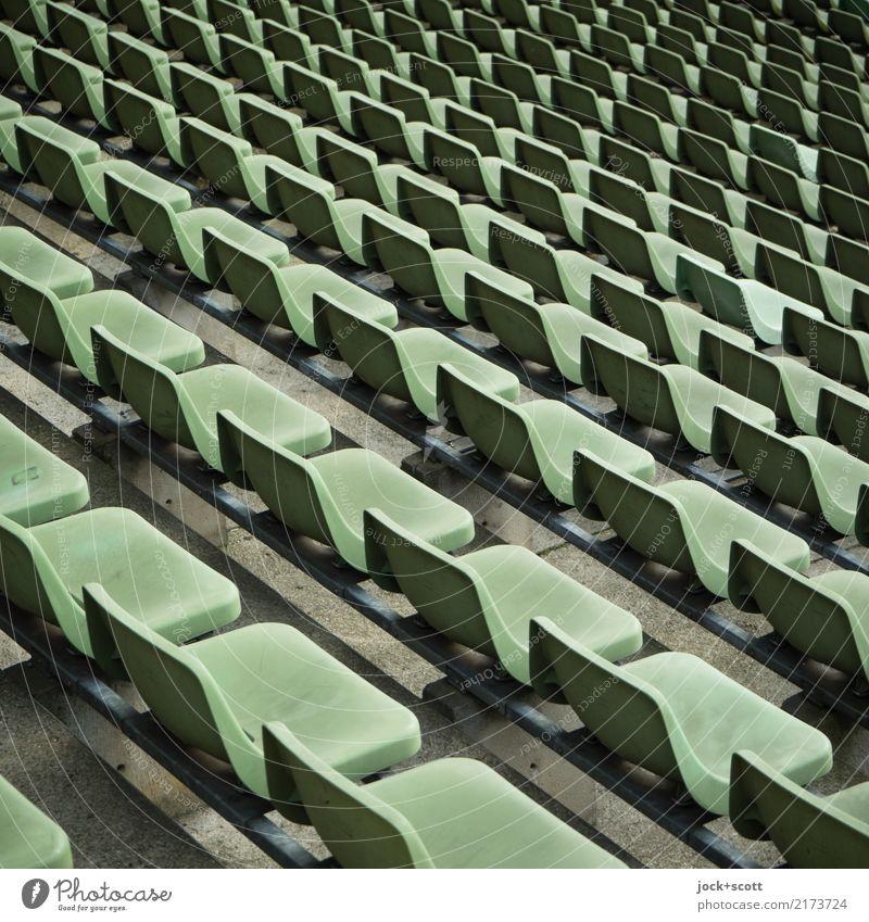 Ranking Berlin Stimmung Design Linie ästhetisch Ordnung Bauwerk viele Kunststoff sportlich lang Sitz Sitzreihe gleich Stadion komplex