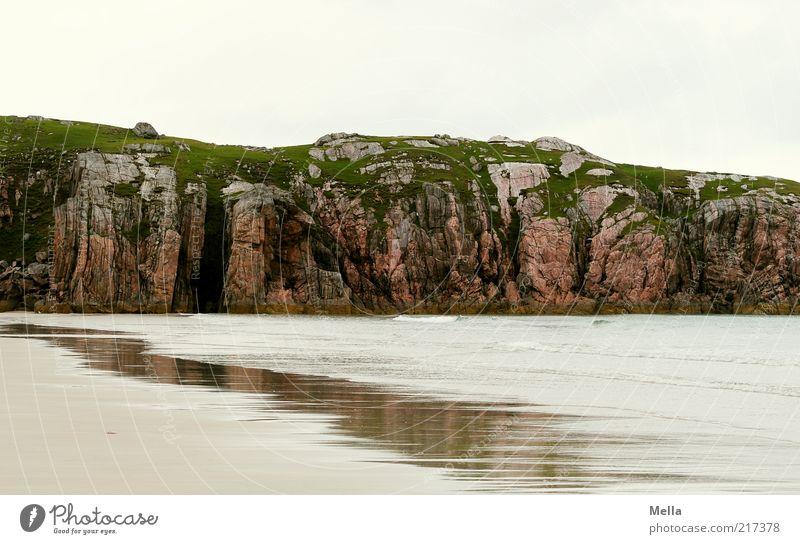 Ausruhen Natur Wasser Meer Strand Ferien & Urlaub & Reisen ruhig Einsamkeit Erholung Sand Landschaft Küste Umwelt Felsen natürlich Sehnsucht Fernweh