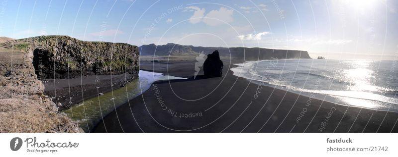 Artic impressions Wasser Sonne Felsen Fluss Island Lava