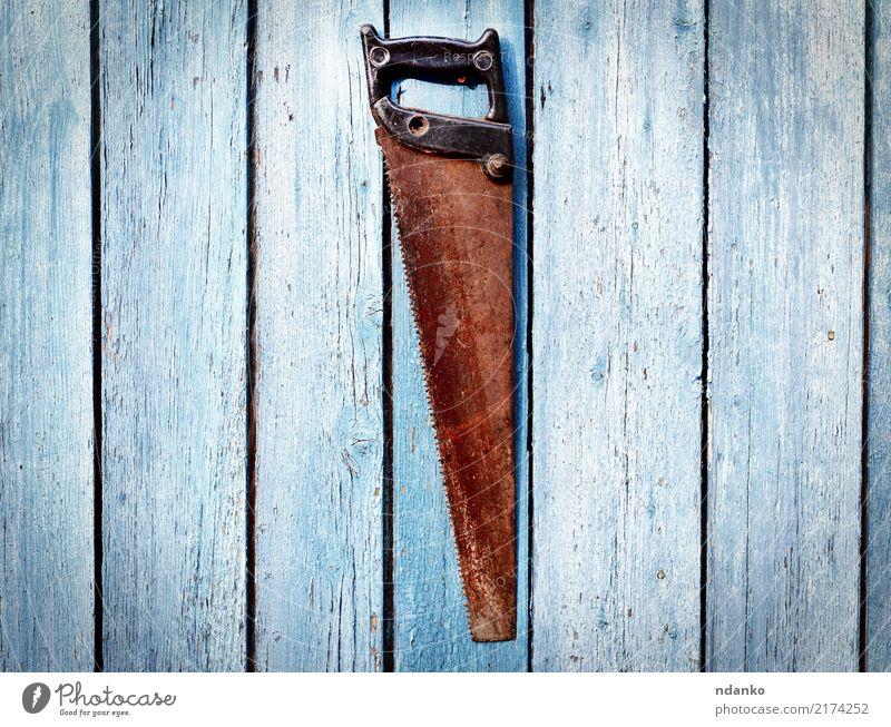 alt Hand Holz Arbeit & Erwerbstätigkeit Textfreiraum Metall retro Rost Werkzeug Konsistenz Antiquität Säge