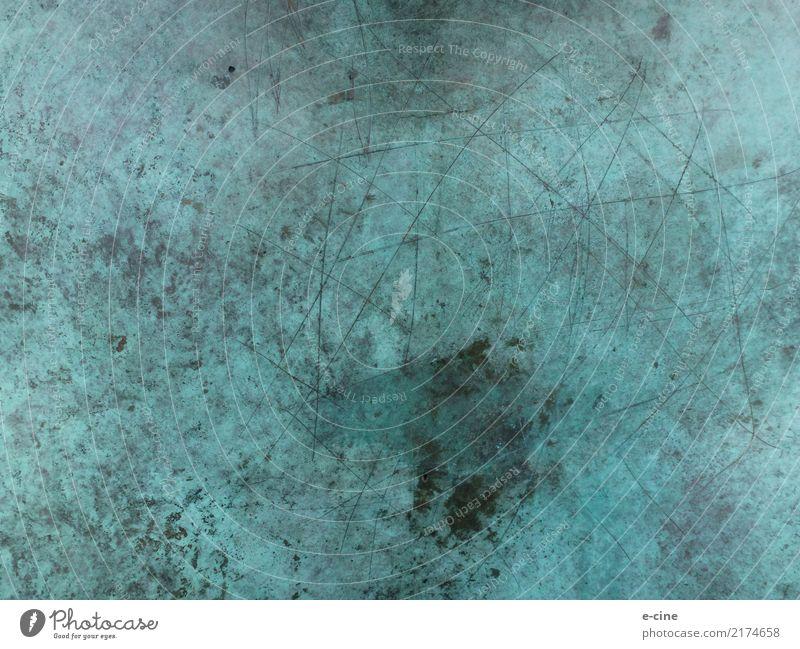 Patina Texture auf Bronze 3 Stil Design Kunst Skulptur Architektur Umwelt Stein Metall Stahl Rost dreckig blau mehrfarbig grau ruhig chaotisch Verfall Farbfoto