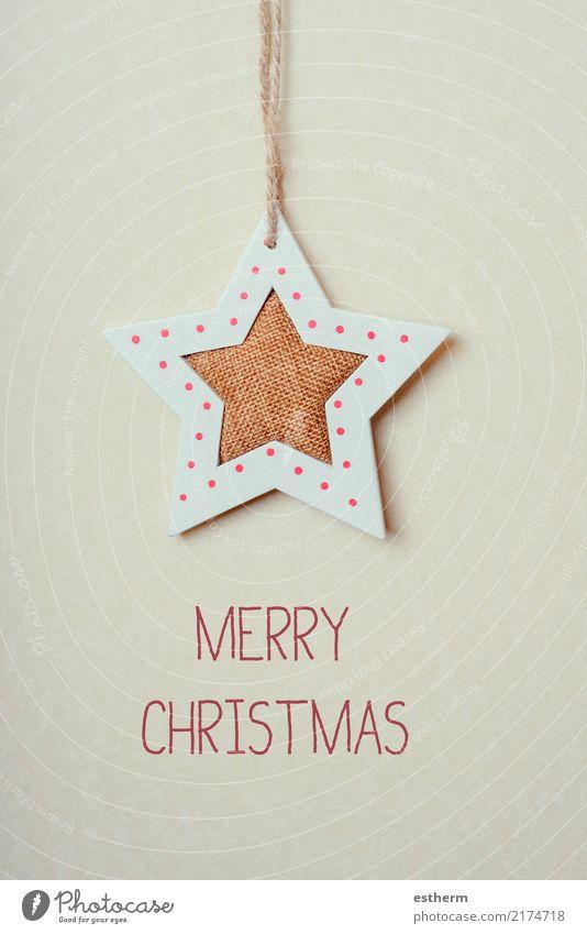 Fröhliche Weihnachten Lifestyle Haus Dekoration & Verzierung Feste & Feiern Weihnachten & Advent Silvester u. Neujahr glänzend hängen Freude Fröhlichkeit