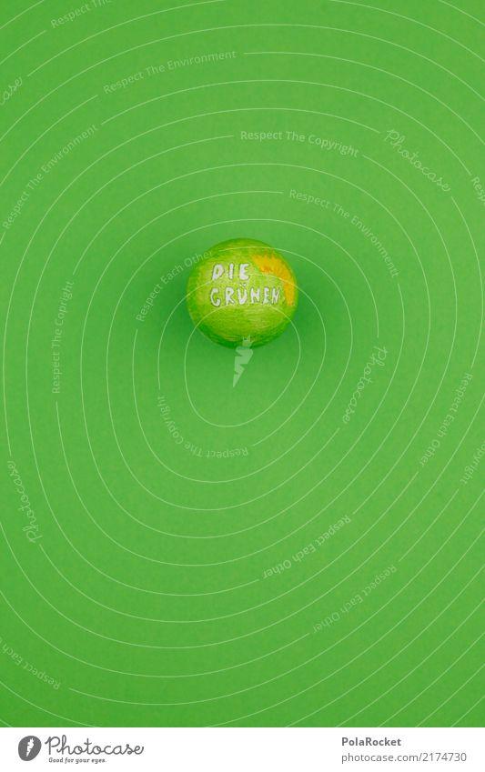 #A# DieGrünen-Ei Kunst ästhetisch Bündnis 90 grün rund Kugel Wahlen wählen Wahlkampf Bundestagswahlen Logo Farbfoto mehrfarbig Innenaufnahme Studioaufnahme