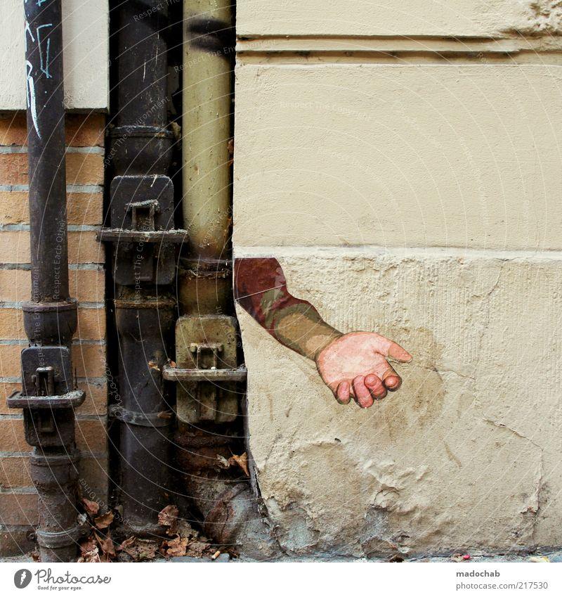 ... ich bau dir ein schloss aus sand ... Hand Wand Stil Mauer Graffiti Kunst Arme maskulin Armut Design Lifestyle Dekoration & Verzierung Mensch Zeichen Tapete