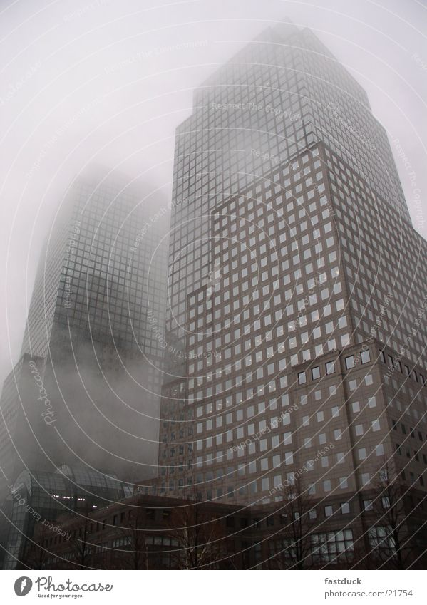 Fog over Manhattan New York City Hochhaus Nebel Architektur south manhattan one finacial plaza 17th december hudson river side