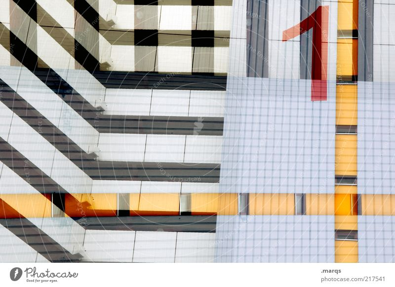 1 weiß Stadt blau rot schwarz gelb 1 Stil Gebäude Linie Architektur Design Hochhaus Fassade verrückt Lifestyle