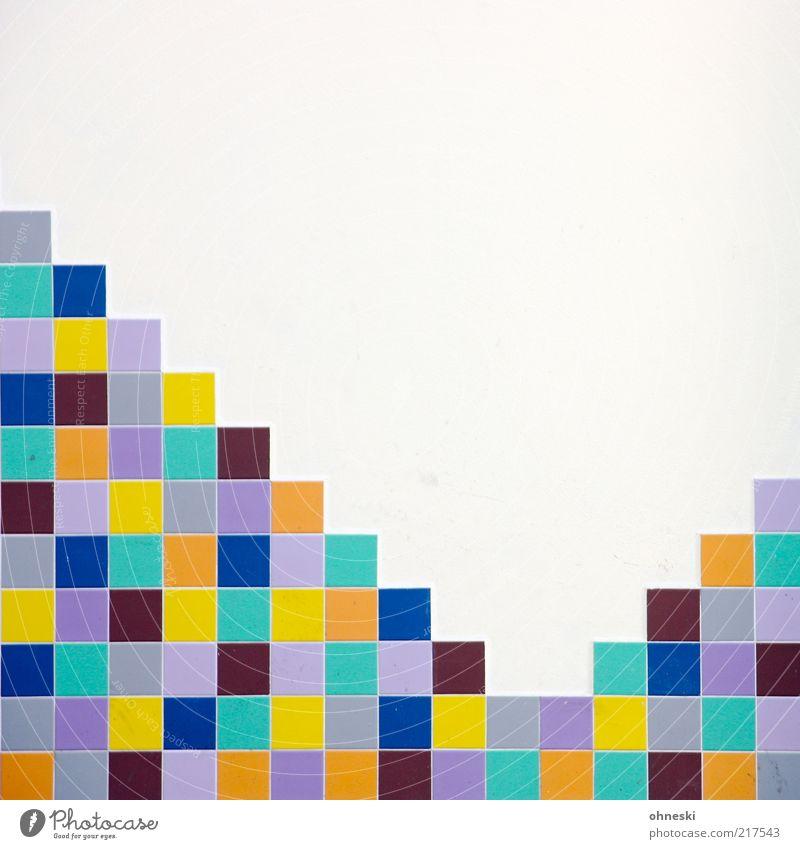 Bunt Wand Mauer Gebäude Design Fassade Ordnung Fliesen u. Kacheln Quadrat Bauwerk mehrfarbig Fuge Mosaik