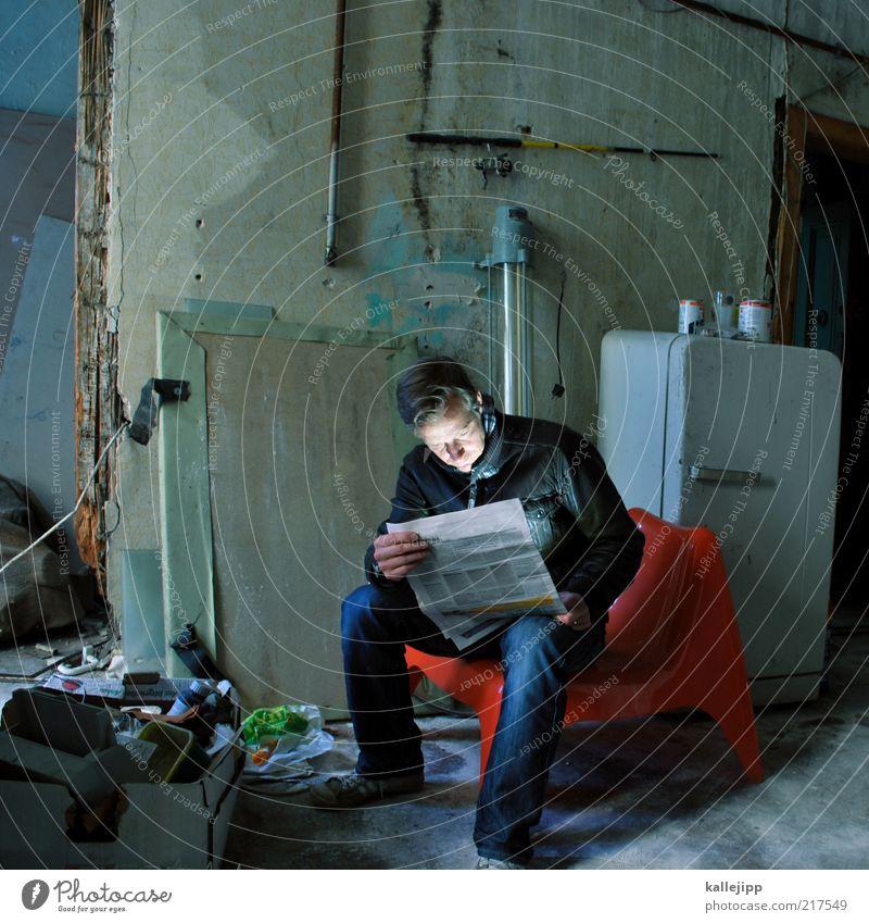 leseecke Mensch Mann Erwachsene Leben dunkel Lampe Raum Wohnung sitzen Innenarchitektur maskulin Lifestyle Häusliches Leben Küche Stuhl lesen