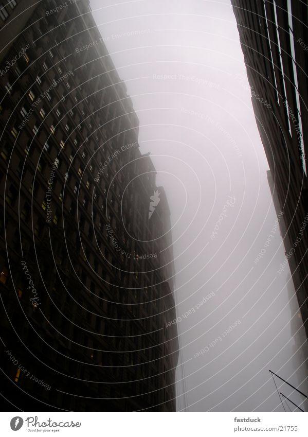 Nebel in allen Gassen Momentaufnahme New York City historisch Süd Manhatten 17. Dezember 14:00