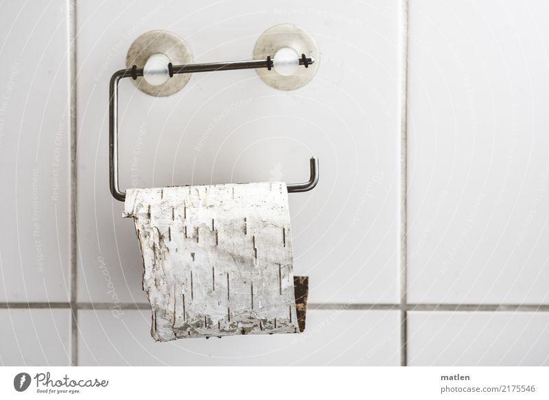 Bio weiß Wand Mauer Bioprodukte türkis Fliesen u. Kacheln hängen Toilettenpapier Saugnapf Klopapierhalter Birkenrinde