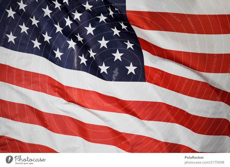 #A# US-Flagge Wirtschaft Handel USA Stars and Stripes US-Armee US-Open Amerika Amerikaner Fahne rot weiß blau Stern Farbfoto mehrfarbig Außenaufnahme