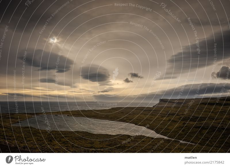 süß und salzig Natur Landschaft Pflanze Wasser Himmel Wolken Horizont Frühling Wetter Schönes Wetter Wind Gras Felsen Berge u. Gebirge Küste Flussufer Bucht