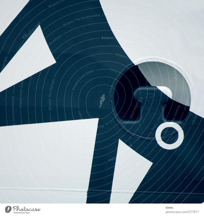 [KI09.1] - Seemanns Kunst Design Schifffahrt Fähre Wasserfahrzeug Bullauge Bordwand Metall Zeichen Kugel Linie Kreis ästhetisch maritim blau Inspiration Kraft