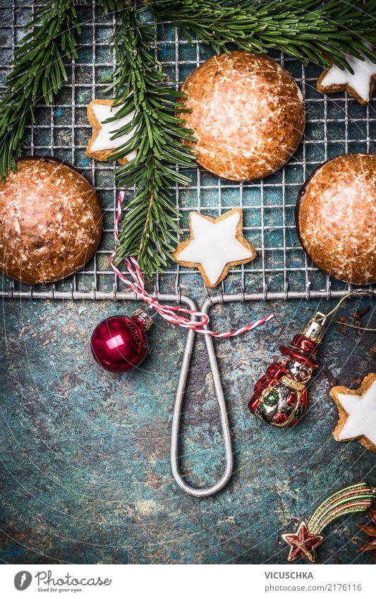 Lebkuchen und Kekse für Weihnachten Lebensmittel Teigwaren Backwaren Dessert Süßwaren Ernährung Festessen Stil Design Winter Dekoration & Verzierung