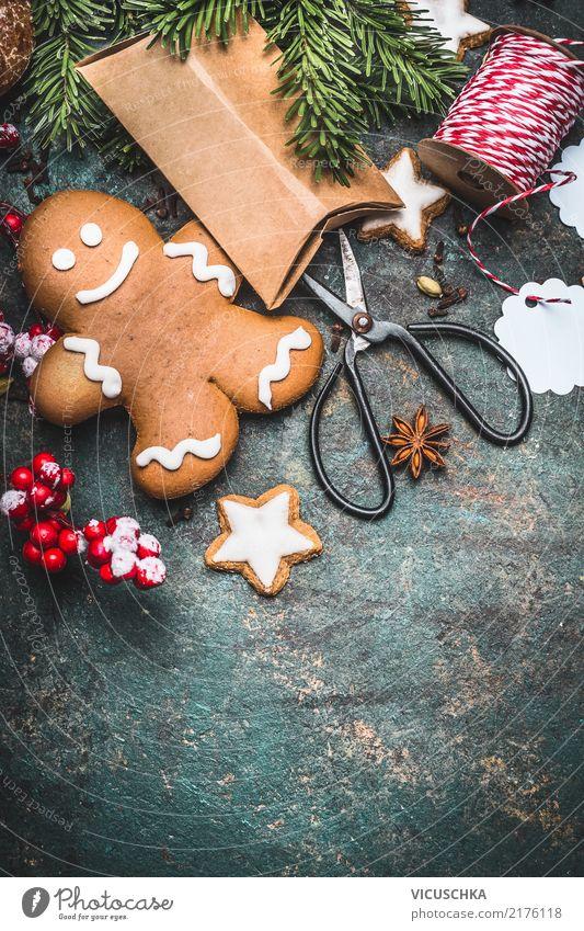 Weihnachtsgeschenke basteln Lebensmittel Teigwaren Backwaren Dessert Stil Design Freude Winter Häusliches Leben Feste & Feiern Weihnachten & Advent