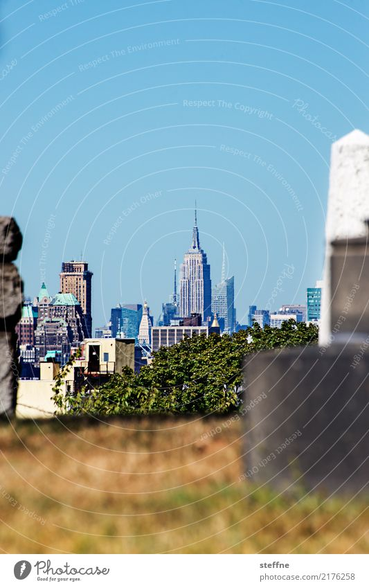 NYC10 New York City Skyline USA Hochhaus Stadt Manhattan Brooklyn Empire State Building Friedhof