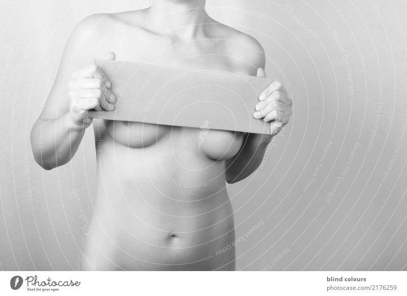 déclaration feminin Körper 1 Mensch Kunst ästhetisch Handel Kultur Sinnesorgane Erotik skurril sparsam Sucht Sexualität Akt nackt Weiblicher Akt Haut