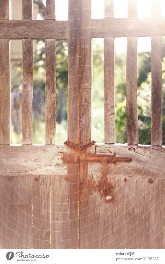 Tor. Kunst Kitsch Tür Spanien zugeklappt Garten Idylle Farbfoto mehrfarbig Außenaufnahme Menschenleer Textfreiraum links Textfreiraum rechts Textfreiraum oben