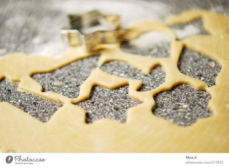 Plätzchen Lebensmittel Teigwaren Backwaren Süßwaren Ernährung lecker süß stechen Stern (Symbol) Weihnachtsgebäck Mürbeplätzchen selbstgemacht Farbfoto